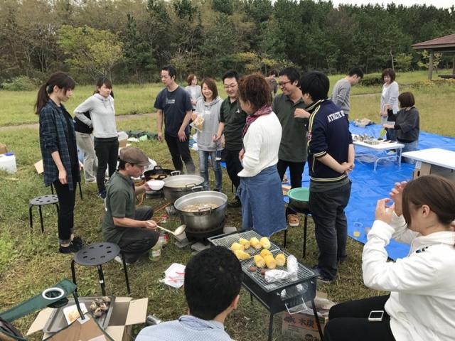 10/2日いも煮を囲んで親睦会を開催いたしました!
